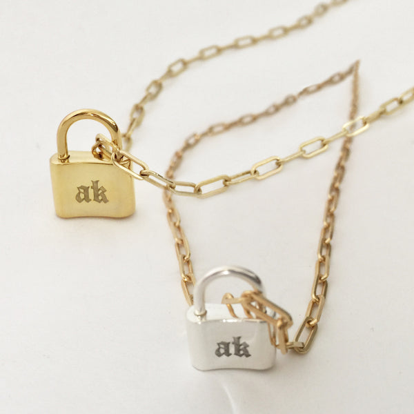 Lock Personalized Charm