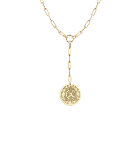 Crescent Moon Medallion Necklace