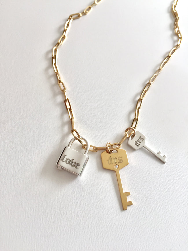 Key Personalized Charm
