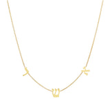Hebrew Initials Necklace