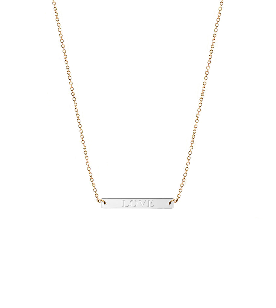 necklace silver bar horizontal