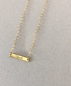Dina Nameplate Necklace