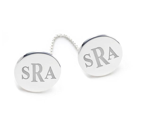 Modern Initial Sterling Silver Tallit Clips