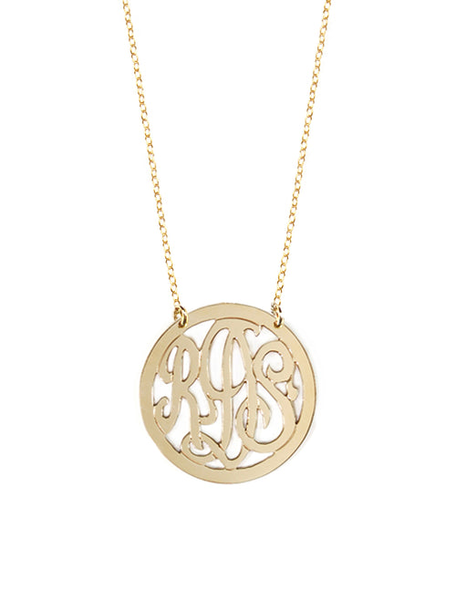 Script Monogram Necklace 2