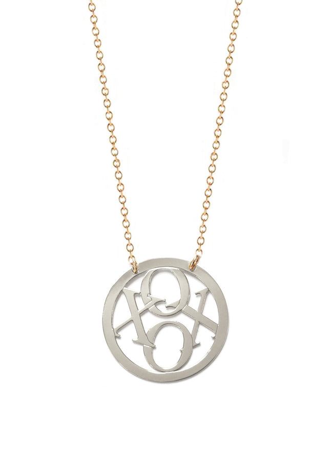 XOXO Circle Necklace