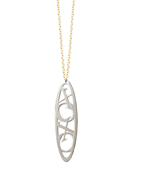XOXO Oval Necklace