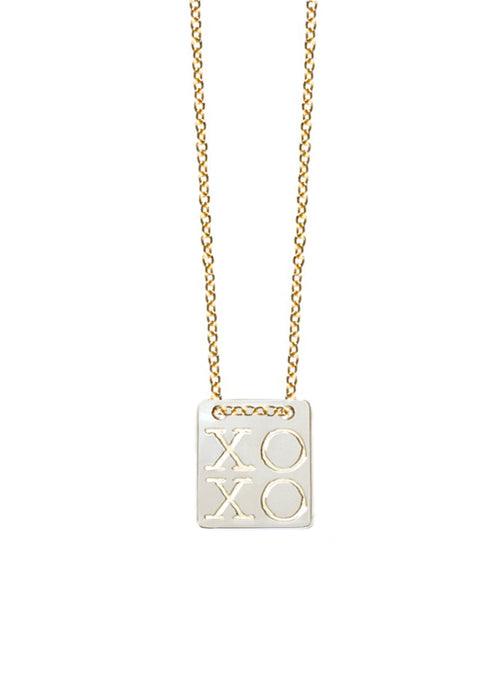 XOXO Tag Necklace