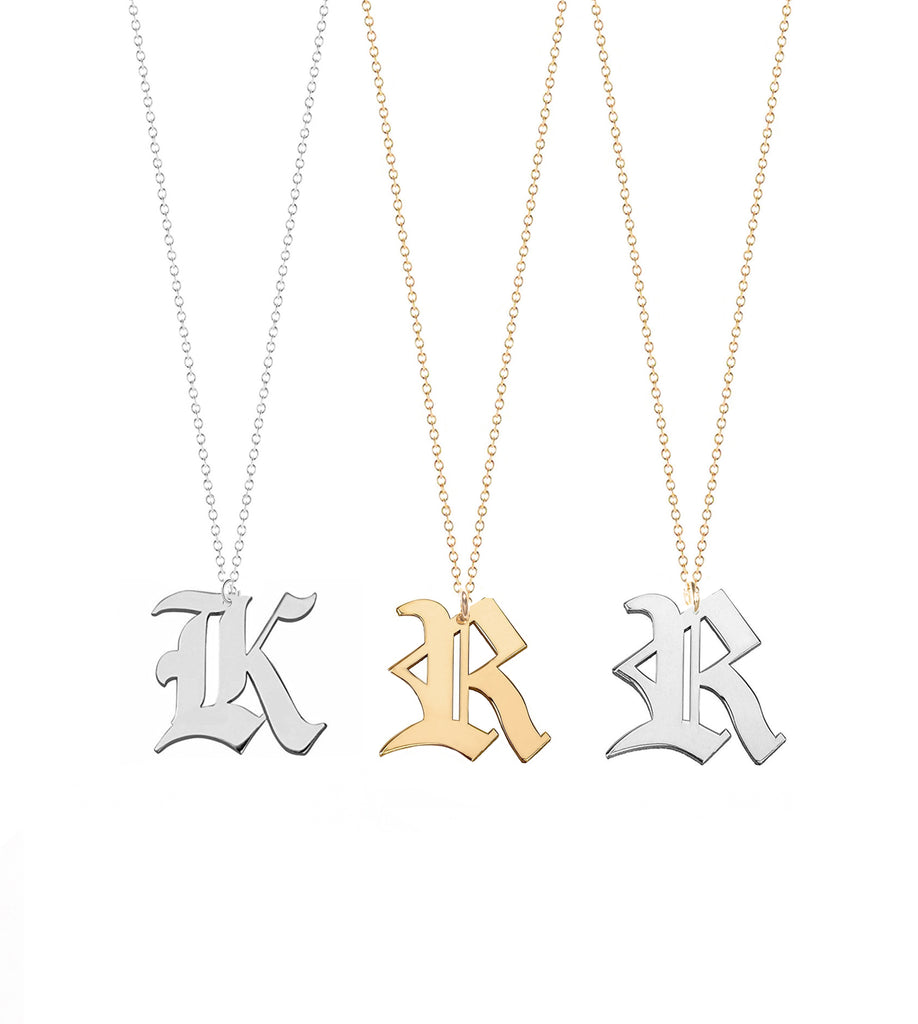 be necklaces initial pin and chains yourself t initials necklace