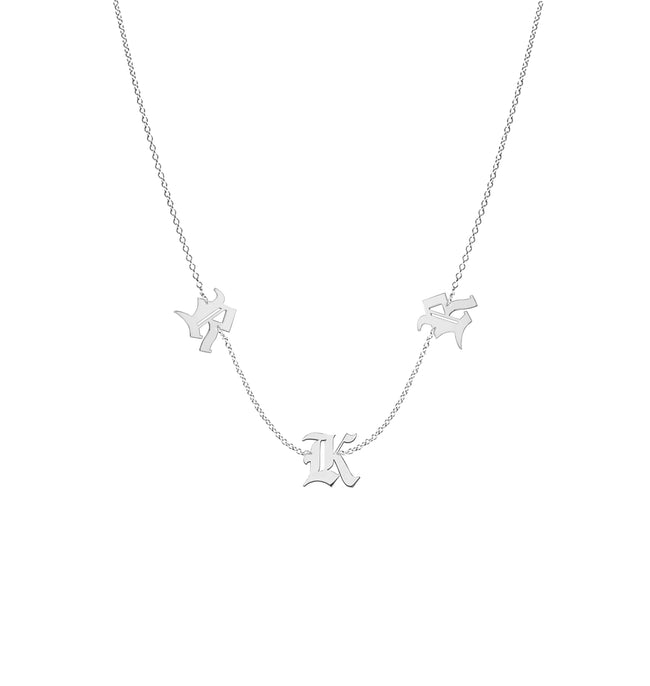 Noa Gothic Initial Necklace