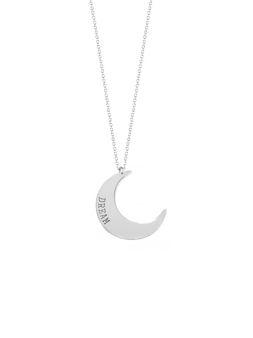 Dream Crescent Moon Necklace