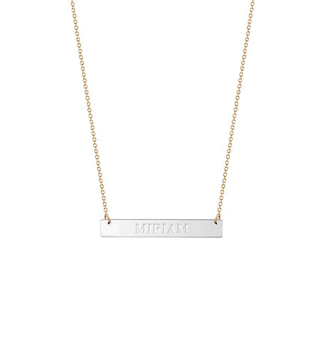 Frame Initial Necklace