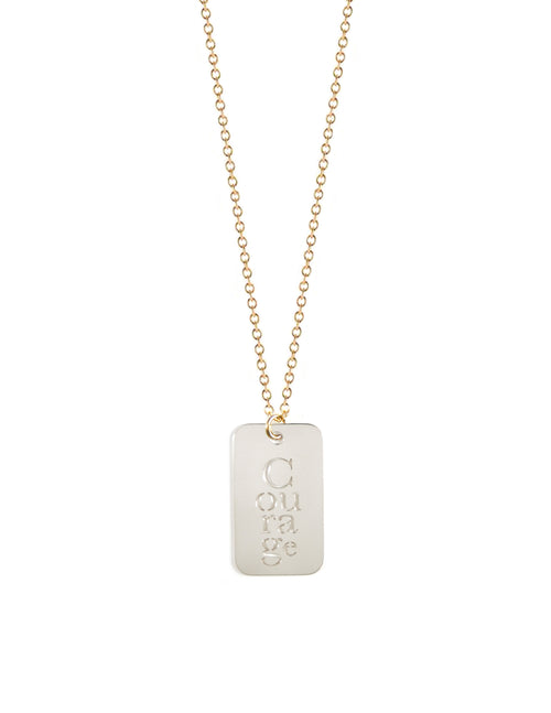 Courage Tag Necklace