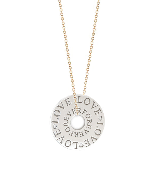 Amour is Forever Token Necklace