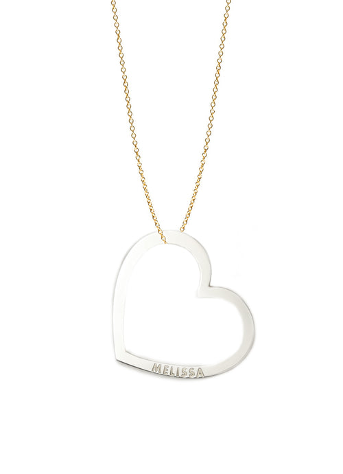 Personalized Heart Token Necklace