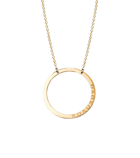 Sandy Personalized Round Disc Necklace