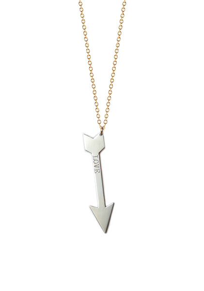 Vertical Arrow Necklace