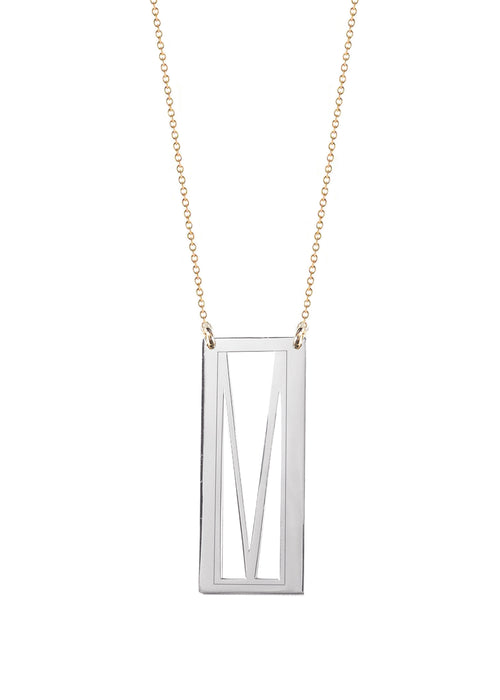 Initial Frame Necklace