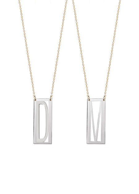 Mini Personalized Rectangular Necklace