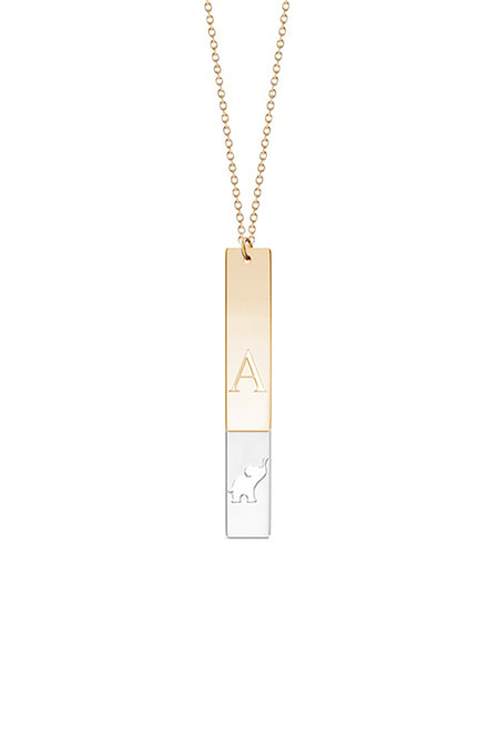 Large Three Vertical Bar Necklace