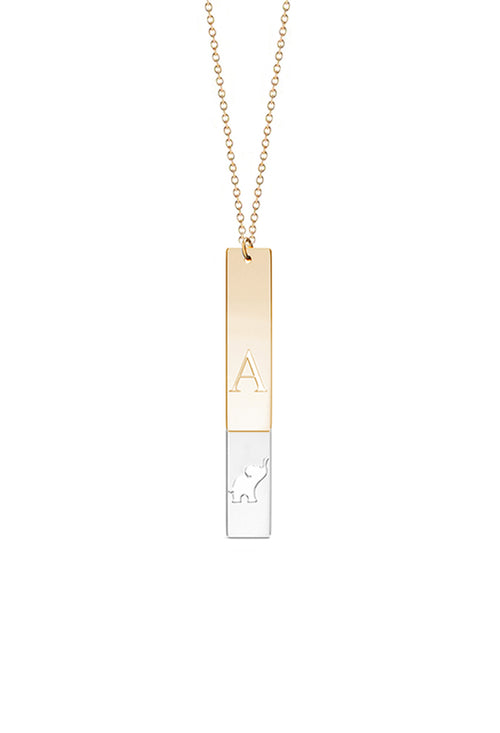 Two Vertical Bar Necklace