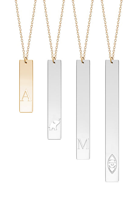 Audrey Personalized Rectangular Necklace