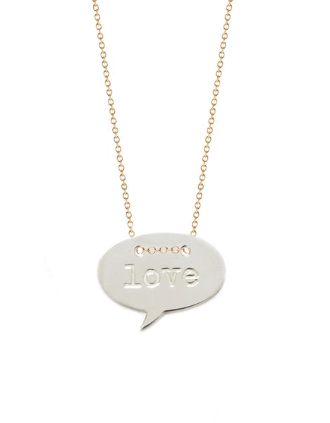 Mini Love Quote Necklace