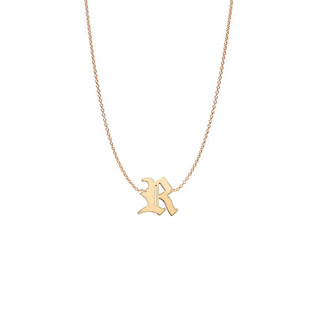 Vesta Initial and Heart Initials Medallion Necklace