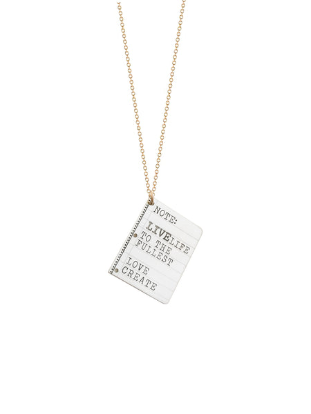 Coordinates Token Necklace