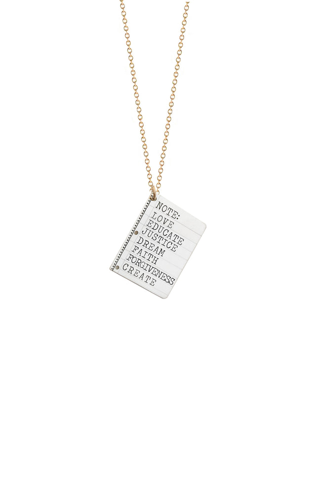 Note To Self Necklace