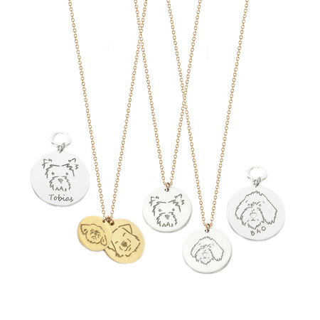 Pet Personalized Portrait Necklace