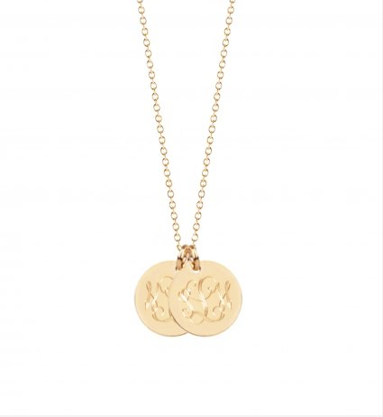 sandy Monogram Disc Necklace