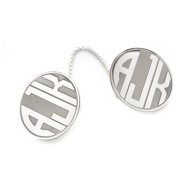 Monogram Sterling Silver Tallit Clips