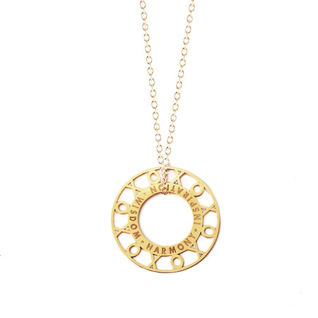 Dannie Initial Token Necklace