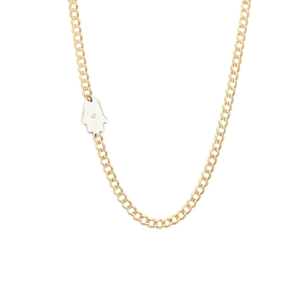 Milena Hamsa Diamond Necklace