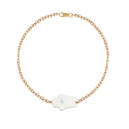 Star of David Diamond Paperclip Bracelet | Anklet
