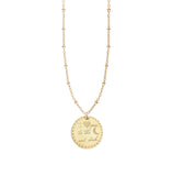 I Love You Medallion Necklace
