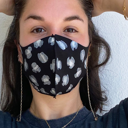Initial Paperclip Chain Mask Holder
