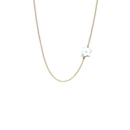 Dani Evil Eye Diamond Paperclip Necklace