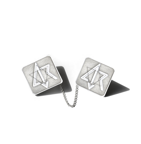 Custom Sterling Silver Tallis Clips Rectangular