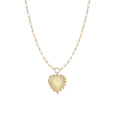 Demeter Leaf Charm Necklace