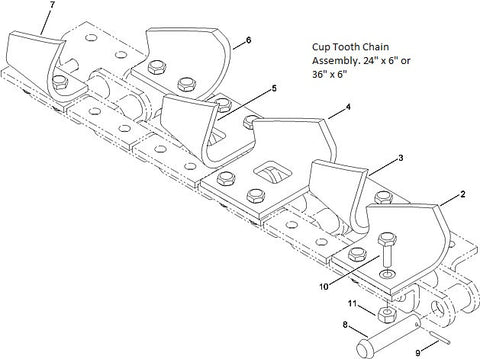 astec and case cup tooth chain assembly