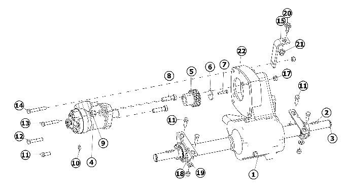 astec and case rt130 powertrain and differential