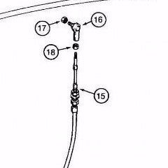 H433340 - Reference Number 15 - Steering Control Cable