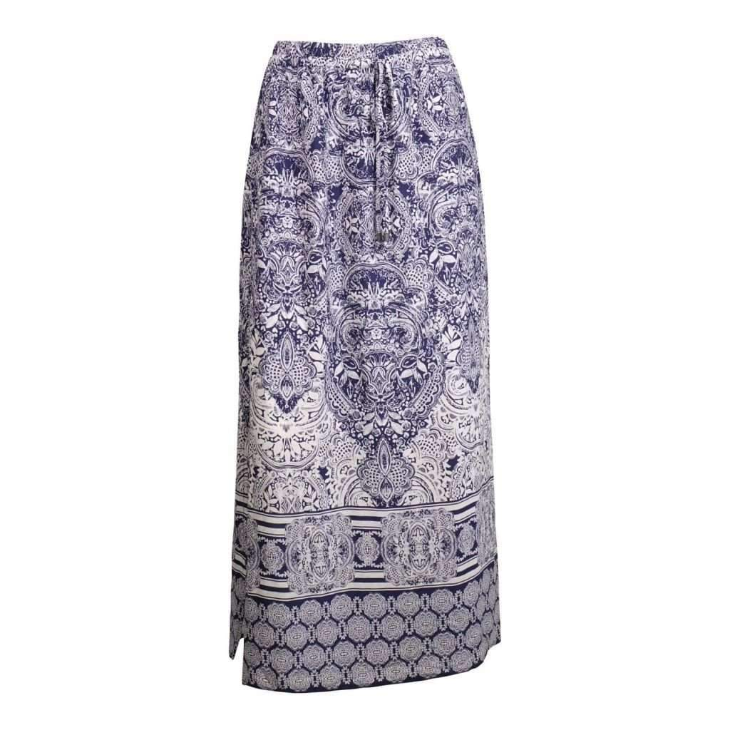 Ladies Printed/Solid Long Skirt