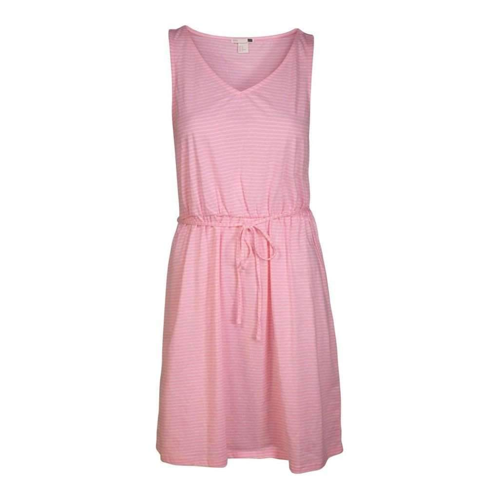 Ladies Sleeveless Dress W/Draw String Assorted Colors Sizes-