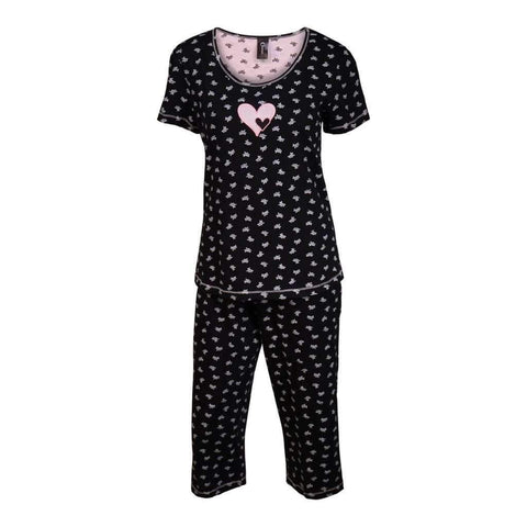 Ladies 2Pc Pj Setcapri & Top Short