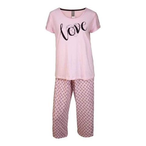 Ladies 2Pc Pj Setpants & Tee Short Sleevs