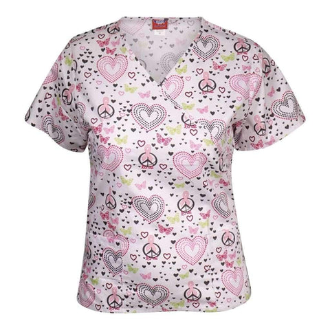 Ladies Top Uniform Medical Asst Printed & Solids