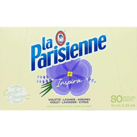 La Parisienne - Fabric Softener Dryer Sheets, Inspira, 80ct
