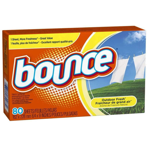 Bounce - Fabric Softener Dryer Sheets, Outdoor Fresh, 80ct